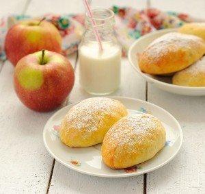 Пирожки из творожного теста с яблоками тесто