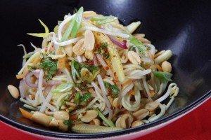 Вегетарианский салат с лапшой Ингредиенты: Лапша (яичная)