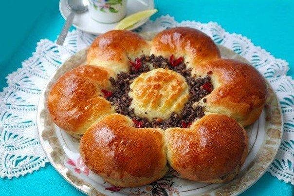 Пирог-цветок с маковой начинкой Ингредиенты: Для теста