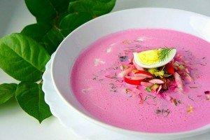 Холодный летний суп со свеклой и кефиром