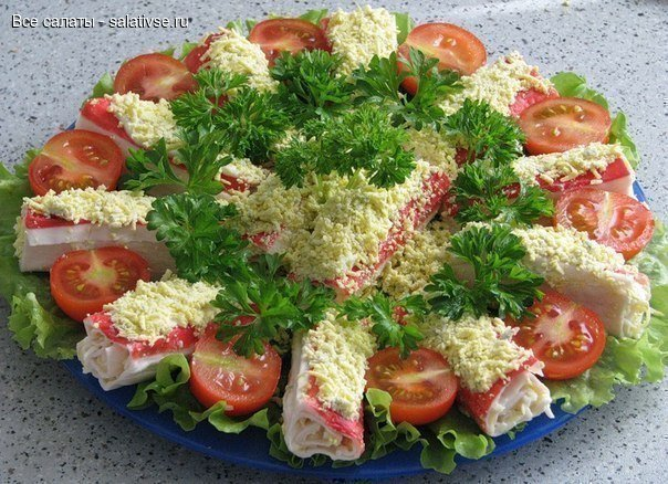 Крабовые палочки «Очаровашки» , еще салаты с