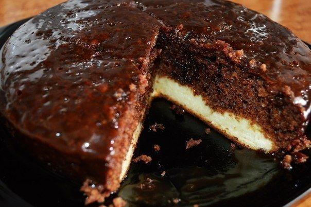 Торт из творога и какао