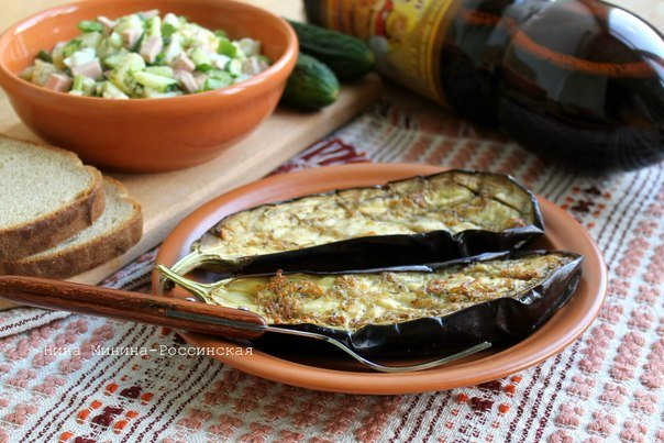 Баклажаны с чесноком в духовке Вариант приготовления