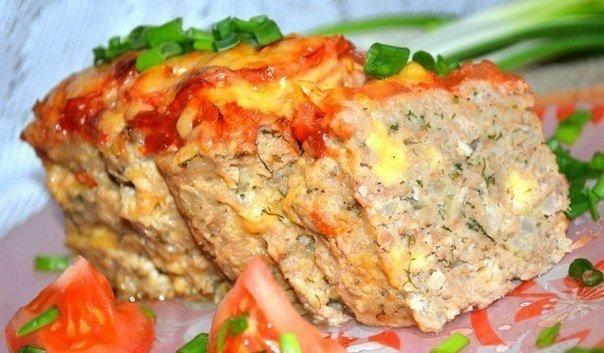 Мясной хлебец с сыром Мясной хлебец с
