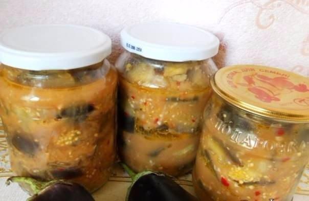 Баклажаны в остром чесночном соусе. Баклажаны —
